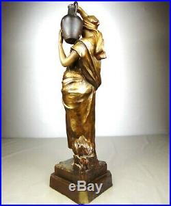 1900 Goldscheider Statue Sculpture Art Nouveau Deco Terre Cuite Femme Orientale