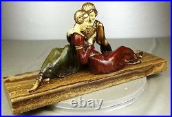 1920/1930 A Godard Statue Sculpture Art Deco Femme Elegante Pt. Chryselephantine