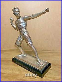 1920/1930 Statue Sculpture Art Deco Athlete Homme Lanceur De Poids