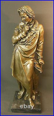 AA 1930 grand bronze de Beethoven sculpture statue 21kg73cm art déco musique TBE