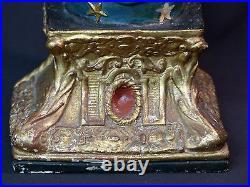 AA 19è très belle statue vierge 52c2.2kg terre cuite Jésus Christ Dieu art sacré
