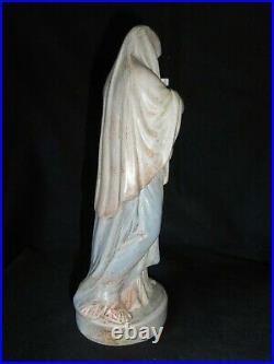 ANCIEN AUTHENTIQUE CÉRAMIQUE STATUE SCULPTURE FEMME MOUGIN à NANCY art populaire