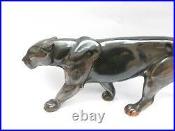 ART DÉCO Élégante PANTHÈRE en MARCHE. ART DÉCO. 44 cm modèle de A. OULINE