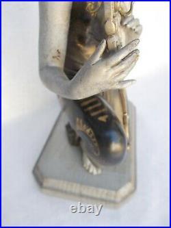 ART DÉCO sculpture ÉLÉGANTE à la LYRE PORTE MONTRE Gousset RÉGULATEUR