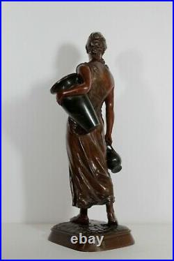 Ancien Bronze Signé E. DROUOT Exposition des Beaux Arts Bronze Titre Art Nouveau