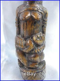 Ancienne Sculpture Statue Maternite Art Africain Oceanie Culte Fertilite