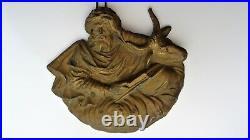 Ancienne Sculpture statue personnage biblique fonte d'art