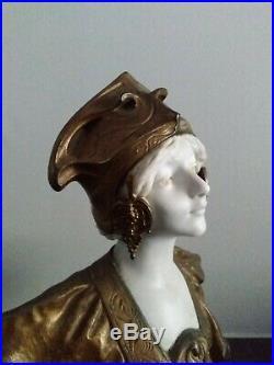 Ancienne Statue Buste Sculpture Art Nouveau Jacobs