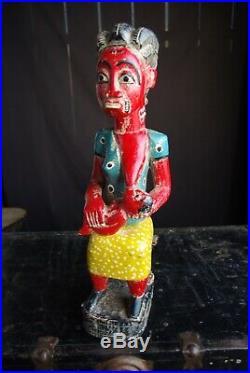 Ancienne Statue Maternité Colon Art Tribal Ethnique Afrique Côte Divoire 48 CM
