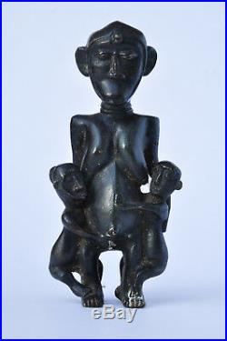 Ancienne statue Afrique Maternité Bronze old african art sculpture dogon
