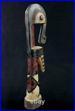 Art Africain African Poupée Mossi Détails & Polychromie Burkina Faso 39 Cms