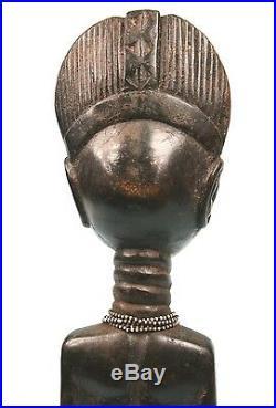 Art Africain Ancienne Figure d'Ancêtre Agni Anyi Côte d'ivoire 35 Cms ++++