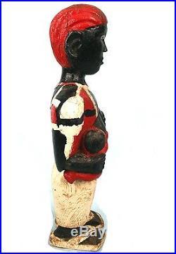 Art Africain Ancienne Maternité Tagbana -Charmant Colon Archaïque 46 Cms +++