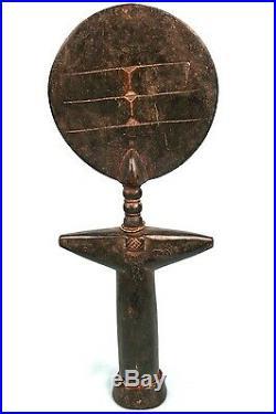 Art Africain Ancienne Poupée de Fécondité Ashanti Ghana Taille XL 37 Cms