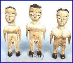 Art Africain Arts Premiers Lot de 3 Jumeaux Ewe Venavi Togo 19 Cms +++++++