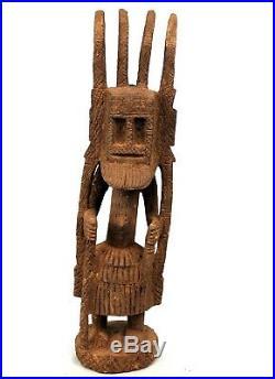 Art Africain Arts Premiers Primitif Statue Danseur Dogon Masque Walu 52 Cms