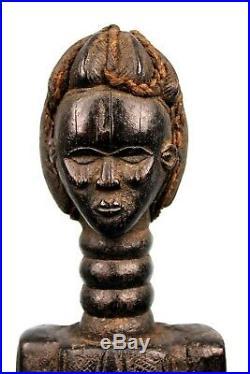 Art Africain Arts Premiers Statue Dan Bois & Fibres Végétales 46,5 Cms +++