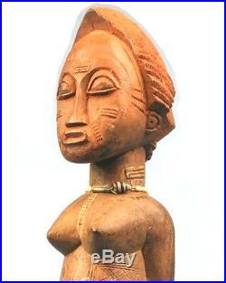 Art Africain Authentique Epouse Mystique Baoulé Pièce Villageoise Tribale