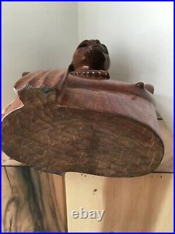 Art Africain Buste Homme bois massif Buste Statue Bois sculpture