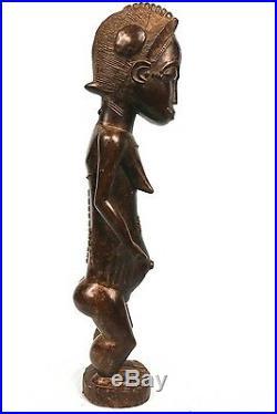 Art Africain Epoux Mystique Blolo Bian Baoulé Sérénité Extrême 43 Cms