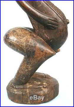 Art Africain Grande Statue Féminine Bamana aux Formes Généreuses 68 Cms