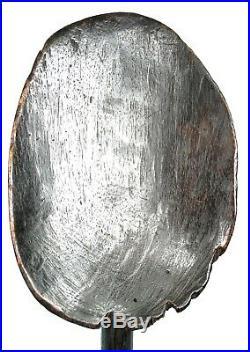 Art Africain Importante Cuillère Rituelle Guéré Socle sur mesure 42,5 Cms