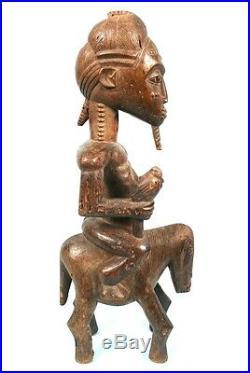 Art Africain Magnifique Cavalier Baoulé Collectible African Art Item 56 cms