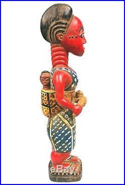 Art Africain Maternité Colon Baoulé aux Jumeaux Twin Maternity 51 Cms ++++