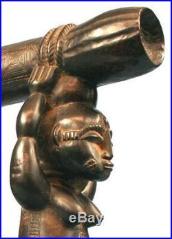 Art Africain Porteurs de Tambour Atié Akié Collectible African Art Item ++++