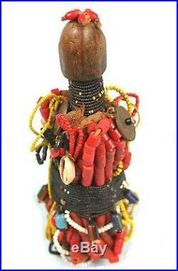 Art Africain Poupée Ham Pilu Fali Cameroun Superbes Ornements 19,5 Cms