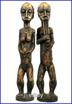 Art Africain Premier Couple Baoulé Côte d'Ivoire Baule Items 53 Cms +++