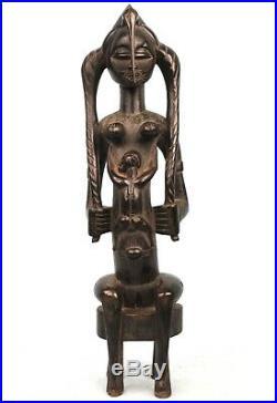 Art Africain Premier Spectaculaire Maternité Senoufo Senufo Maternity 45 Cms