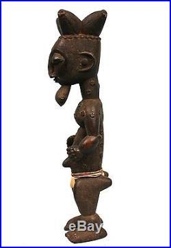 Art Africain Statue Atié Sculpture à la Précision Extrême 43,5 Cms ++++++