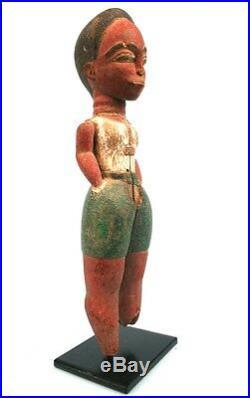 Art Africain Très Ancien Colon Baoulé Sculpture TOP Pièce Soclée 25 Cms