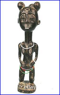 Art Africain Très Ancien Fétiche d'Adoration Agni Anyi Côte d'ivoire 35 Cms