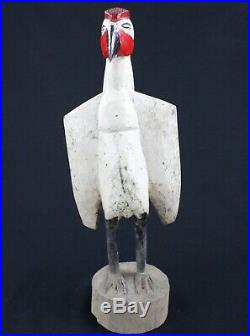 Art Africain Tribal Ancien Calao Senoufo Peint Senufo African Bird 50 Cms