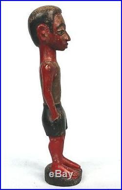 Art Africain Tribal Ancien Colon Baoulé Tenue Décontractée 26,5 Cms +++++
