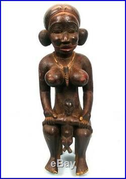 Art Africain Tribal Ancienne Maternité Senoufo Bois Dense 57 Cms TOP +++