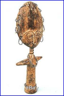 Art Africain Tribal Délicate Poupée de Fécondité Ashanti Ghana 30 Cms ++++