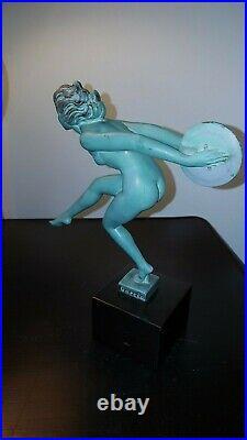 Art Deco Statue Danseuse Aux Cymbales Joie Garcia Le Verrier