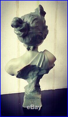 Art Nouveau Buste en plâtre Thaïs d'après VILLANIS
