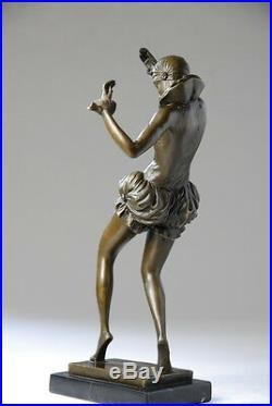 Art Nouveau, belle sculpture signée Nick- bronze, beaux détails