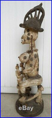 Art-populaire Africain. Grande & Puissante Sculpture Igbo Maternité Du Nigeria