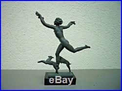 Belle statue Art deco Pierre le Faguays FAYRAL sculpture régule patine Médaille