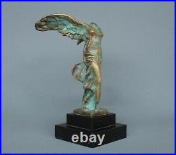 Bronze Ancien Victoire De Samothrace Le Verrier Éditeur- Art Déco