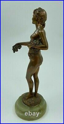 Bronze Art Nouveau 1900 Joseph D Aste Giuseppe D Aste Femme Nu Socle Onyx H3232