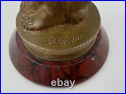 Bronze Danseuse Art Deco Signe C Charles 1930 Patine Chocolatee H3319