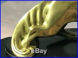Bronze cubiste Art Déco Le renard sur socle en marbre 1930