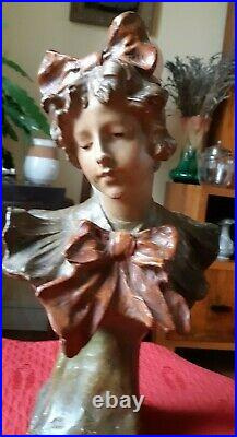 Buste Art Nouveau De Richard Aurili