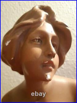 Buste Art Nouveau Femme signé ancien